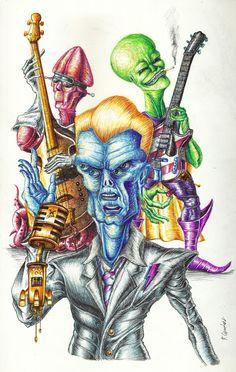 """Echa un vistazo a mi proyecto @Behance: """"The xtragalactics rock band"""" https://www.behance.net/gallery/61315007/The-xtragalactics-rock-band"""