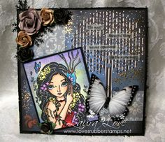 Loves Rubberstamps Blog - Art Journal Page using Sweet Pea Stamps