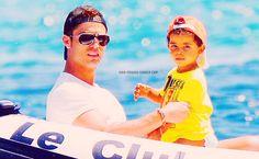 Cristiano Ronaldo and Cristiano Ronaldo Jr.