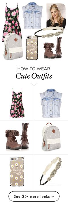 """""""Back to school outfit"""" by pixie-berry22 on Polyvore featuring Topshop, Aéropostale, Casetify and Forever 21"""