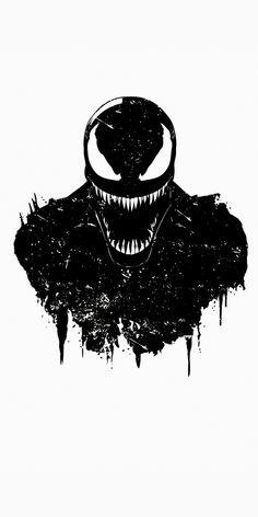 Noir Marvel Carnage para hombre Manga corta Camiseta Negro
