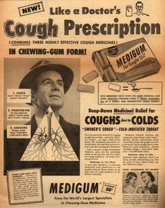 Medigum: it turns your throat into a strange triangle. But at least it tastes great!
