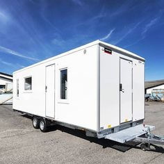 The ultimate mobile office, kitchen, toilet, shower, office -all totally insulated from intense heat plus air con- Scanvogn.com.au
