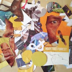 #morningcollage offcuts from the past fortnight. #collage