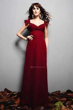 Bridesmaid Dresses Under 100 | 2011 Burgundy long chiffon Cocktail dress/ bridesmaid dress 7336-1