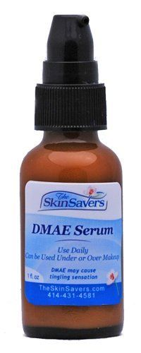 DMAE Serum - 2 oz. by TheSkinSavers. $29.95. Contains DMAE that can bring a firm appearance to the skin.. Helps reduce fine lines and wrinkles.. Very light product that can be worn under or over makeup.  Contains DMAE that can bring a firm appearance to the skin and help reduce fine lines and wrinkles.  Contains antioxidants and marine extracts.
