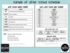 The Educators' Spin On It: After School Weekly Planner Sample