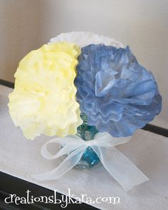 Coffee Filter Flower Tutorial by Creations By Kara.  I have GOT to try this one!  I absolutely LOVE the soft colors and delicate look!!!