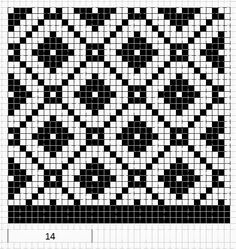 Mustrilaegas: Kirjatud kudumid - this would also make for some cool fair isle Tapestry Crochet Patterns, Fair Isle Knitting Patterns, Bead Loom Patterns, Knitting Charts, Weaving Patterns, Knitting Stitches, Knitting Designs, Cross Stitch Patterns, Intarsia Knitting