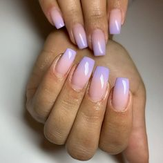 Gorgeous nails inspiration for Ombre Nail Colors, Purple Ombre Nails, Ombre Nail Designs, White Acrylic Nails, Best Acrylic Nails, Dope Nails, Swag Nails, Grunge Nails, Stylish Nails