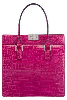 Giorgio Armani - F/W 2012 pink crocodile handbag