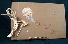 Vintage Baby Scrapbook 1930's - 1940's.