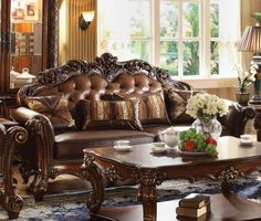 Vendome Sofa with 3 Pillows | Acme Furniture | Home Gallery Stores