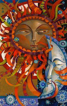 here comes the sun ♥Die #Sonne und der #Mond #sol #luna #sun #moon