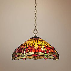 "Reves Dragonfly 16"" Wide Dale Tiffany Pendant Light - #2Y430 