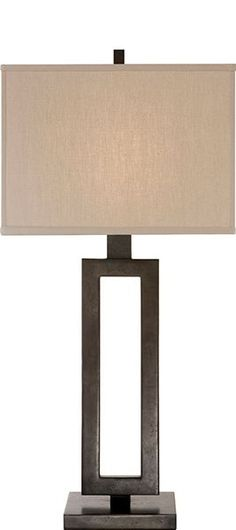 Table Lamps, Aged Iron Modern Table Lamp, so contemporary, one of over 3,000 limited production interior design inspirations inc, furniture, lighting, mirrors, tabletop accents and gift ideas to enjoy pin and share at InStyle Decor Beverly Hills Hollywood Luxury Home Decor enjoy & happy pinning