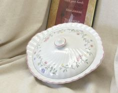 Check out Vintage Johnson Bros 'Summer Chintz' Round Covered Vegetable Serving Dish, Made in England,Antique,#VH3038 on ckdesignsforyou