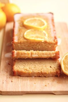 Healthier lemon loaf cake made with olive oil and greek yogurt!