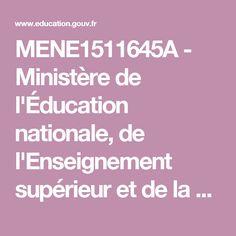 MENE1511645A - Ministère de l'Éducation nationale, de l'Enseignement supérieur et de la Recherche