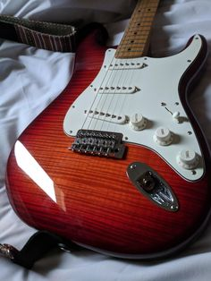 Learn how to play the fender guitar by using these straightforward tips and hints. Playing a guitar is simple to master, and may open up a lot of musical opportunities. Guitar Inlay, Prs Guitar, Fender Stratocaster, Fender Guitars, Acoustic Guitars, American Standard Stratocaster, Classic Nursery Rhymes, Guitar Photography, Better Music