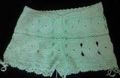 Aysen Hand Crochet Low Rise Shorts Shorts and by CokettaBeachwear