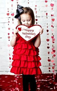 #Child #photography ideas #Valentine's Day little #girl ToniK ~•❤•Bébé•❤•~ by Amy Martin