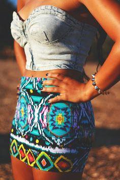 Stylish Tribal Skirt