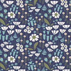 138402 Go Your Own Way Corduroy from Floratopia by Elizabeth Olwen for Cloud9 Fabrics