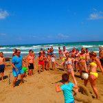 Beach party op Kreta met sport en spel 18-08-2014