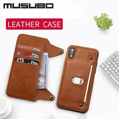 Musubo Luxury Leather Case With Detachable Flip Wallet and Screen Protector For iPhone 6 6 Plus Plus 7 7 Plus 8 8 Plus X XS - Iphone 7 Screen Protector - Ideas of Iphone 7 Screen Protector dgadfhafh Iphone Leather Case, Iphone Wallet Case, Leather Wallet, Iphone Cases, Iphone 7, Mobiles, Iphone 6 Screen Protector, Smartphone, Iphone 6 S Plus