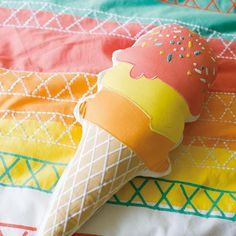 Ice Cream Throw Pillow   The Land of Nod