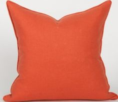 Solid Linen Collection - Salmon Pillow