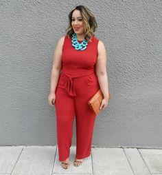 MONIF C. Codi Jumpsuit on Beauticurve - Plus Size Fashion for Women #plussize http://beauticurve.com/post/112641457582/beauticurve-x-monif-c-had-so-much-fun-styling