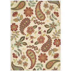 @Overstock - The view is always beautiful with this exciting, eye-catching and durable rug. This rug features a heavy loop pile with floral and paisley design in striking colors.  Bring a vibrant focal point into any interior with this attractive rug.http://www.overstock.com/Home-Garden/Nourison-Vista-Floral-Paisley-Multi-Color-Rug/7547224/product.html?CID=214117 $94.99