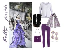 """""""Pretty purples"""" by fashionkatie ❤ liked on Polyvore"""