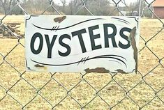 FRESH OYSTERS Sign Old Rustic Vintage Style HAND PAINTED Ocean Beach Fish Market #SignsbyPierce Vintage Signs For Sale, Vintage Style, Vintage Fashion, Fresh Oysters, Ocean Beach, Hand Painted, Fish, Rustic, Marketing