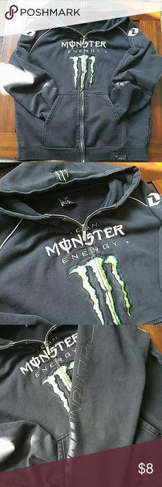 Monster energy ONE Industries zip up hoody Thick black hoodie. Motocross Jackets & Coats