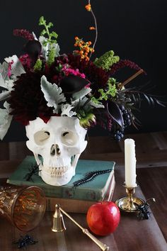 DIY Skull Centerpiece