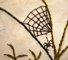 Embroidery Needles, Crewel Embroidery, Hand Embroidery Patterns, Cross Stitch Embroidery, Embroidery Designs, Crazy Patchwork, Crazy Quilting, Halloween Embroidery, Scrap
