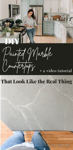 Painting Bathroom Countertops, Painted Granite Countertops, Faux Marble Countertop, Countertop Makeover, Diy Countertops, Bathroom Counter Paint, Paint Kitchen Countertops, Black Laminate Countertops, Paint Formica