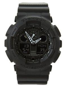 Часы G-shock GA-100, черные