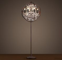 Foucault's Orb Clear Crystal Floor Lamp  #Lighting #Crsytal #FloorLamp  http://amzn.to/1c04gu3
