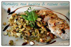 Blomkålsris med kyckling & rostade nötter