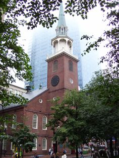 Old South Meeting House, Boston, Massachusetts - Completed in 1729 by Puritans, Benjamin Franklin was baptized here. The biggest building in Colonial Boston, a crowd met there to discuss events such as the Boston Massacre. It was there that the Boston Tea Party was launched when Samuel Adams gave a secret signal to 5,000 colonists meeting there. A group disguised as Native Americans & calling itself The Sons of Liberty raced to Griffin's Wharf & dumped 342 chests of tea into Boston Harbor