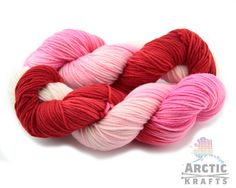 True love Hand dyed worsted weight merino yarn. by Arctickrafts