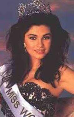 Ninibeth Leal Miss Wolrd Venezuela .. Se convierte en Miss World 1991