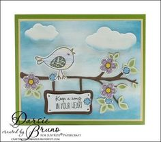 Sing Out Loud - Multi-Step Birds | JustRite Papercraft Inspiration Blog