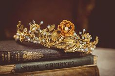 book, crown, and princess image