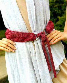 tejidos artesanales: cinturon en relieve tejido en crochet