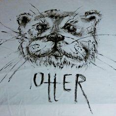 #t-shirt #handmade #art #otter #painting #akryl